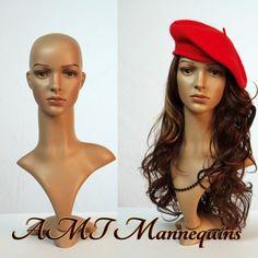 Female lifesize head display wigs hats scarves plastic mannequin head -FD2+2Wigs  http://www.ebay.com/itm/like/190880785547?lpid=82&chn=ps
