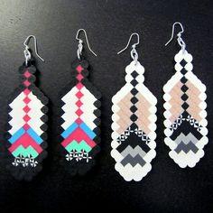 perler beads earrings