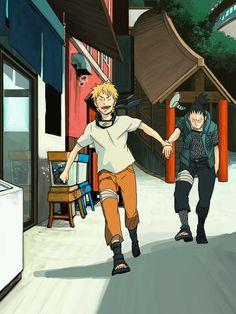 Naruto and Shikamaru. Naruto Uzumaki, Naruto And Sasuke, Naruhina, Sasunaru, Anime Naruto, Naruto Boys, Naruto Fan Art, Naruto Gaiden, Naruto Cute