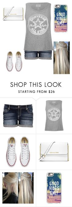 """""""Untitled #329"""" by a-hidden-secret ❤ liked on Polyvore featuring Converse, MICHAEL Michael Kors and Casetify"""