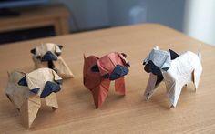 Origami Pugs #pug