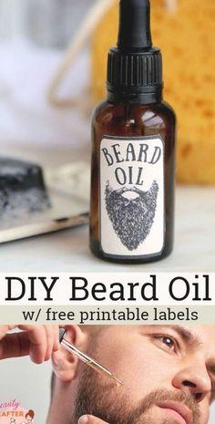 Printable Labels, Free Printables, Diy Beard Oil, Oil Recipe, Essential Oils, Great Gifts, Recipes, Beards, Free Printable