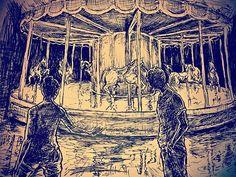 #drawing #inktober #artwork #inkdrawing #drawing #ink #merrygoround #art