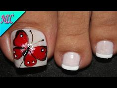 Simple Nail Art Designs, Best Nail Art Designs, Easy Nail Art, Scary Nails, Red Carpet Manicure, Pretty Toe Nails, Butterfly Nail Art, Pedicure Nail Art, Girls Nails