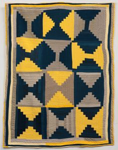 Lucy M. Mingo, Login Cabin, 2012, quilted fabric, 76 x 100 inches, Gee's Bend Quilters Collective