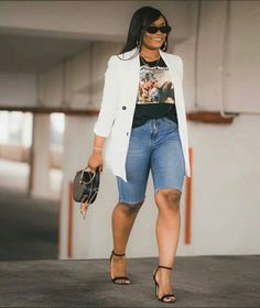 Blazer Outfits, Casual Fall Outfits, Short Outfits, Spring Outfits, Trendy Outfits, Cool Outfits, Funky Fashion, Black Girl Fashion, Star Fashion