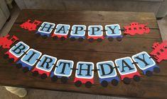 Train Birthday Banner.  Happy Birthday by CraftyMomByFlaaen