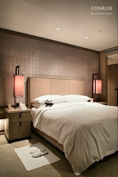 Color muted but with accent color and additional lighting. Conrad Hotel Beijing