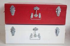 Maletas de metal para la decoración de las habitaciones infantiles http://www.minimoda.es