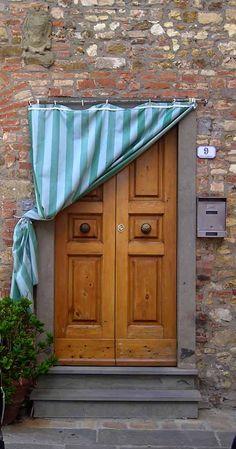 AT Europe: Tuscany, Italy - Curtain Doors Entrance Doors, Doorway, Door Knockers, Door Knobs, Door Curtains, Curtain Door, Italian Doors, All About Doors, When One Door Closes