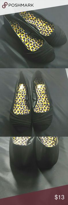NWOT black suede Charlotte Russe flats NWOT black suede Charlotte Russe flats. These have never been worn. Bottoms and insides are very clean as shown in pics.  Very soft suede like material. Size 8.  Lifted design on toe area. Great for work or special occasion. Charlotte Russe Shoes Flats & Loafers