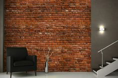backstein tapete landhausstil wandgestaltung ideen steinoptik tapete