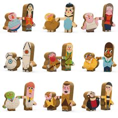 Two of a Kind Wooden Toys by Andrew Kolb #Wooden_Toys #Andrew_Kolb