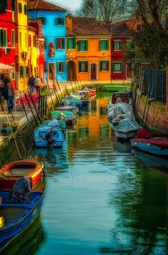 Burano, an island near Venice Italy. So easy to get to by boat it's a must when visiting Venice. KittyCommotion.com would love to see Venice again.