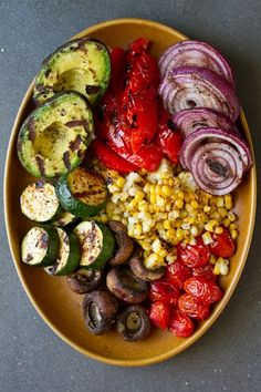 Veggies always looks yummier when they are grilled..