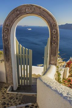 Gate to the Aegean, Oia, Santorini island, Greece. - Selected by www.oiamansion.com