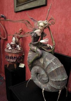 Fantasy, Whimsical, Strange ,Mythical and Creative Doll. 3d Figures, Art Sculpture, Paperclay, Creepy Dolls, Clay Dolls, Little Doll, Fairy Art, Fairy Dolls, Ball Jointed Dolls