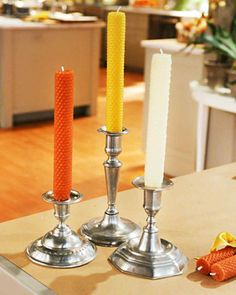 Flickering candles set the mood for a dinner party, but there's nothing charming about spilled wax. To remove it from tabletops, heat with a blow-dryer on the lowest setting for several seconds; then scrape up using the edge of a credit card.