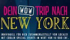 Gewinne eine Reise nach New York sowie diverse Sofort-Preise im Gesamtwert von CHF 15'000.-