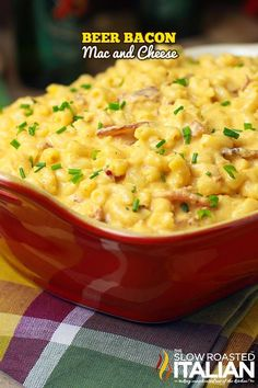 Beer Bacon Mac and Cheese - sounds yummy