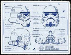 Stormtrooper Helmet Blueprint