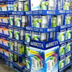 Drink your water - Brita  pitchers & filters @ Costco Wholesale !