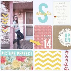 'Picture Perfect' Scrapbook Layout