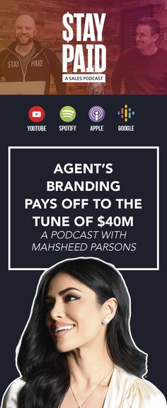 Who should listen to this Stay Paid podcast episode: Anyone who needs to hear that there is no such thing as too much marketing. real estate marketing - luxury real estate agent - luxury realtor business - realtor marketing - marketing ideas Luxury Real Estate Agent, Spotify Apple, Off The Charts, Real Estate Marketing, Branding, Marketing Ideas, Youtube, Business, Brand Management