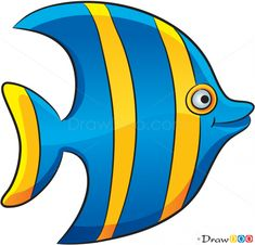 How to Draw Striped Fish, Sea Animals - Belezza,animales , salud animal y mas Sea Animals Drawings, Cartoon Sea Animals, Cartoon Fish, Fish Drawings, Creature Drawings, Felt Animals, Fish Cartoon Drawing, Sea Drawing, Sea Creatures Drawing