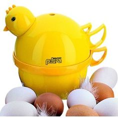 Petra EA44 Mini Chicki Egg Boiler. So, I know you're asking why do I love Petra, well it's hard to say but... I guess what I can say is what's not to love. She's cute, she's yellow, she makes 4 eggs for you when you want them, well almost when, she isn't the speediest chick but I own, operate and love my Petra and although she isn't everyone's cup of tea and I have to say a pan works quicker, she has a wee personality of her own and you can't say that about a pan now can you?