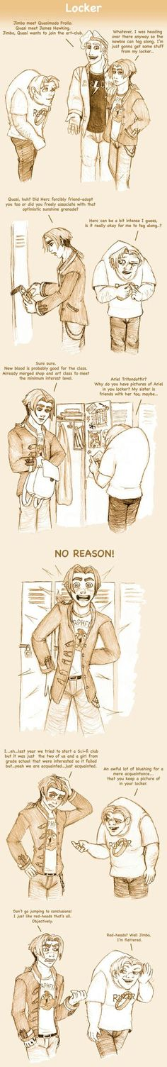 Omg this cute and funny X) #ArielxJim #Quasimodo