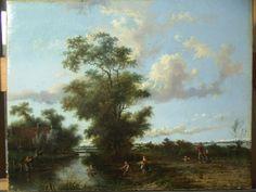 Schilderij rivierlandschap na behandeling - RestauratieatelierHaarlem.nl