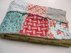 Rag quilt patchwork blanket Denyse Schmidt