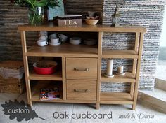 Oak custom cupboard. Made by Derva.