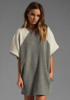 RILLER & FOUNT Talisa Short Sleeve Raglan Sweatshirt in Flint at Revolve Clothing - Free Shipping!