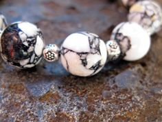 black & cream mosaic bracelet