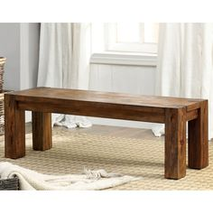 Furniture of America Clarks Farmhouse Style Kitchen Dining Bench (Dark Oak), Brown #woodworkingbench