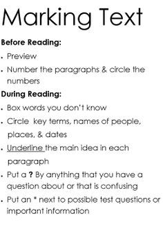 close reading anchor chart - Google Search