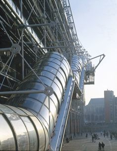 Renzo Piano 1997 Laureate, Centre Pompidou, Paris, France, 1977