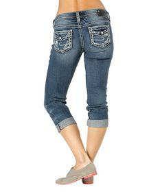 Another great find on #zulily! Medium Blue Mid-Capri Jeans by Silver Jeans Co. #zulilyfinds