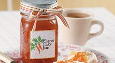 Gooseberry Patch Can't-Miss Canning Recipes: Carrot Cake Jam. Something to do with all the carrots? Food Gifts, Jar Gifts, Carrot Cake Jam, Carrot Jam Recipe, Gooseberry Patch, Jam And Jelly, Canning Recipes, Jar Recipes, Tupperware Recipes