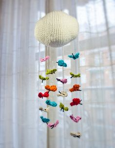 Crochet Butterfly Mobile...dont like the top part but definitely gonna do a butterfly mobile