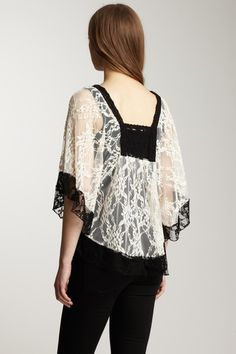 Draped Lace Top