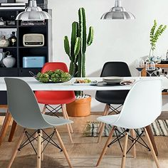 Why you need Eames molded plastic chairs in your dining room?