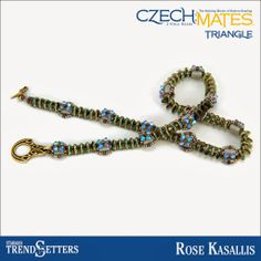 Wildly Bohemian - News of the Bead World: TrendSetter Jewelry featuring the new CzechMates Triangle and Starman ColorTrends collections