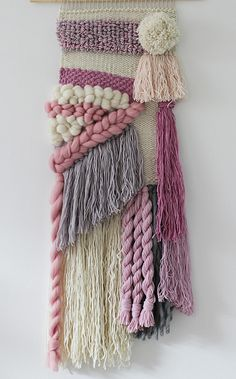Woven wall hanging | Hand woven tapestry| Weaving wall art | Loom wall hanging…