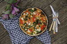 Kale, chickpea and feta tart with a buckwheat crust. Photo / Eleanor Ozich use vegan feta Entree Recipes, Veggie Recipes, Vegetarian Recipes, Healthy Recipes, Quiche Recipes, Tart Recipes, Healthy Options, Healthy Meals, Healthy Eating