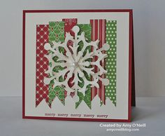 snowflake strips - I cannot wait to order this die - great for cards and to make that gift wrap extra special too
