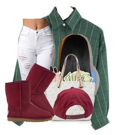 """Goin to da mall wit............"" by deasia-still-thugin-honey ❤ liked on Polyvore featuring beauty, ncLA, Michael Kors, Brixton and UGG Australia"