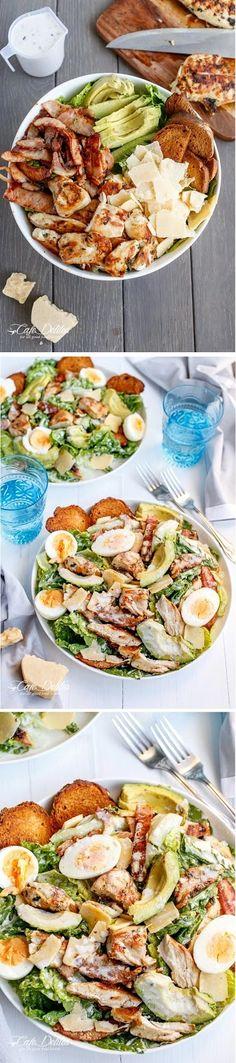 SKINNY CHICKEN AND AVOCADO CAESAR SALAD INGREDIENTS : Salad: ½ ciabatta loaf (120g   4oz), sliced 2 whole Chicken Breast fillet...